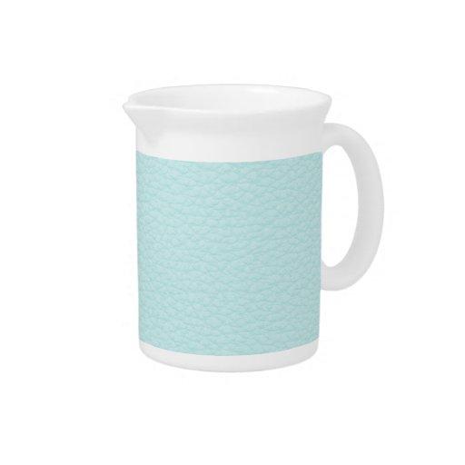 Imagen del cuero ligero de la turquesa jarra de beber