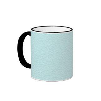 Imagen del cuero ligero de la turquesa tazas de café