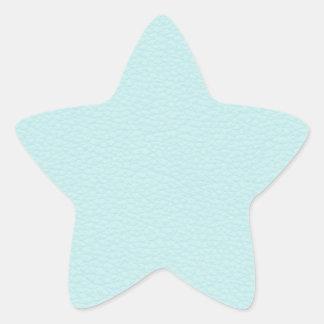 Imagen del cuero ligero de la turquesa pegatinas forma de estrella
