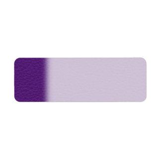 Imagen del cuero púrpura etiqueta de remite