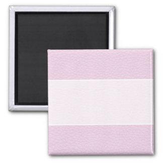 Imagen del cuero rosa claro imán cuadrado
