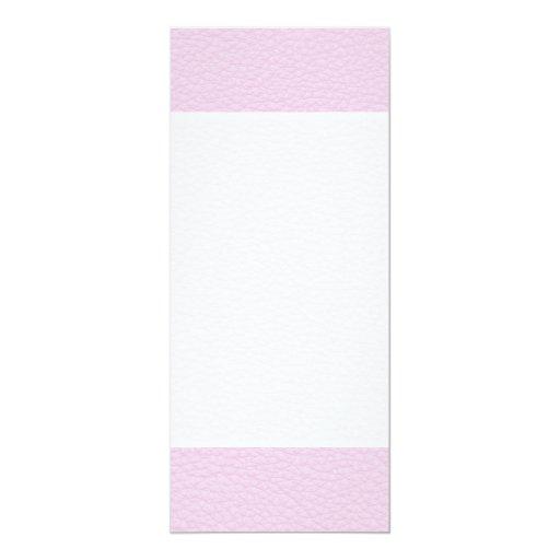 Imagen del cuero rosa claro invitación 10,1 x 23,5 cm