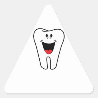 Imagen del dentista calcomanías trianguladas