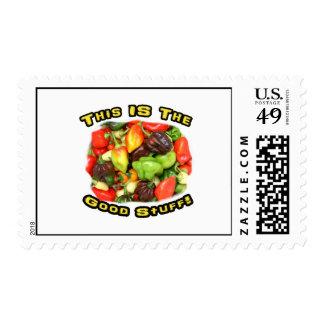 Imagen del diseño de la pila del pimiento picante sellos