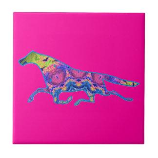Imagen del diseño del caballo del caleidoscopio teja cerámica