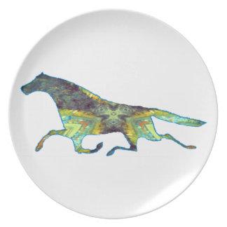 Imagen del diseño del caballo del caleidoscopio platos para fiestas