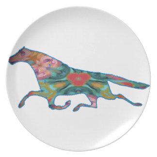 imagen del diseño del caballo del caleidoscopio plato