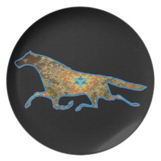 Imagen del diseño del caballo del caleidoscopio plato de comida