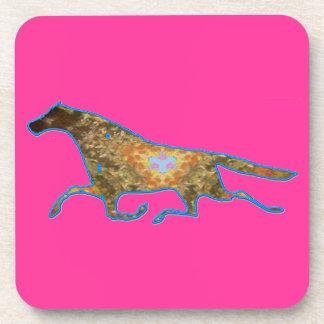 Imagen del diseño del caballo del caleidoscopio posavaso