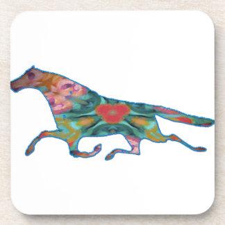 imagen del diseño del caballo del caleidoscopio posavasos de bebida