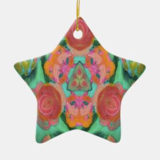 imagen del diseño del caleidoscopio adorno navideño de cerámica en forma de estrella