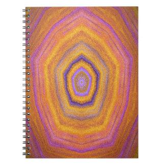 imagen del diseño del caleidoscopio libro de apuntes con espiral