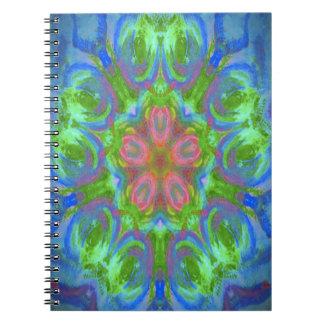 imagen del diseño del caleidoscopio spiral notebook