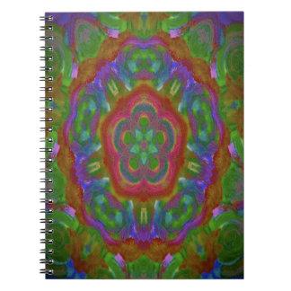 imagen del diseño del caleidoscopio spiral notebooks