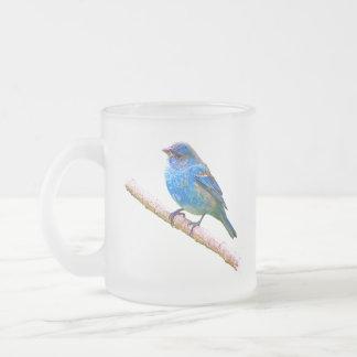 Imagen del empavesado de añil (versión 2) taza cristal mate