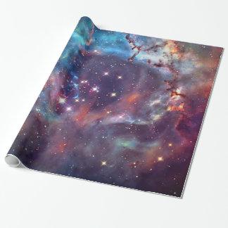 Imagen del espacio de la nebulosa de la galaxia papel de regalo