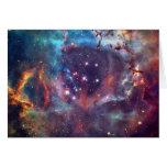 Imagen del espacio de la nebulosa de la galaxia tarjeta