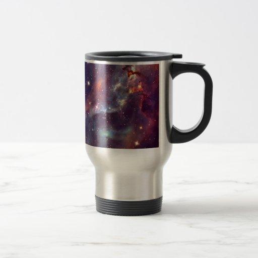 Imagen del espacio de la nebulosa de la galaxia tazas de café