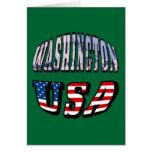 Imagen del estado de Washington y texto de los Tarjeta De Felicitación