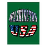 Imagen del estado de Washington y texto de los Postal