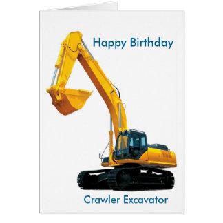 Imagen del excavador de la correa eslabonada para tarjeta de felicitación