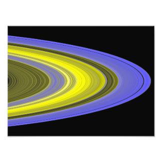 imagen del Falso-color de los anillos de Saturn Cojinete