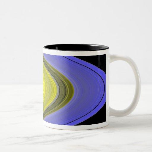 imagen del Falso-color de los anillos de Saturn Tazas