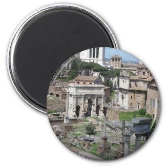 Imagen del foro romano imán redondo 5 cm