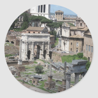 Imagen del foro romano pegatina redonda