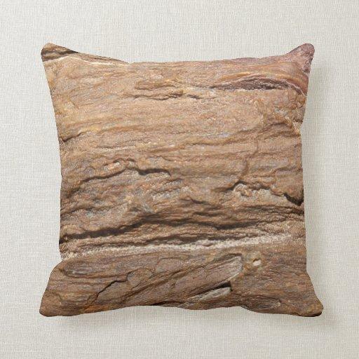 Imagen del fósil de madera cojines