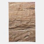 Imagen del fósil de madera toallas