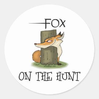 Imagen del Fox Pegatinas Redondas