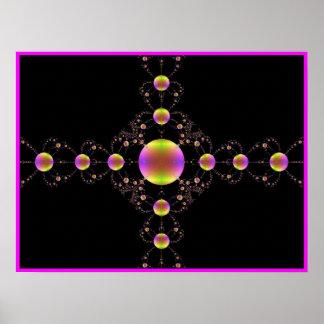 Imagen del fractal de una cruz póster