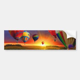 imagen del globo del aire caliente pegatina de parachoque