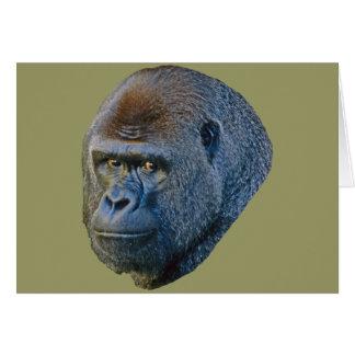 Imagen del gorila tarjeton