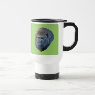 Imagen del gorila taza de viaje
