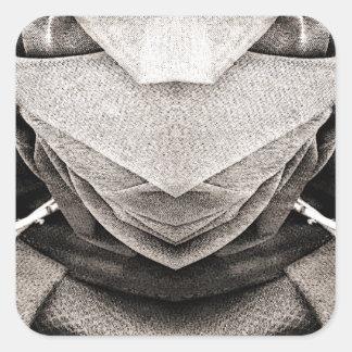 Imagen del gorra en sombras del gris pegatina cuadrada