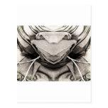 Imagen del gorra en sombras del gris tarjetas postales