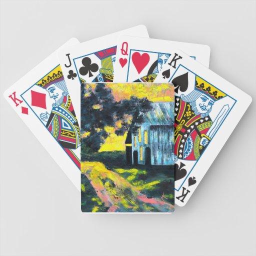 Imagen del granero barajas de cartas