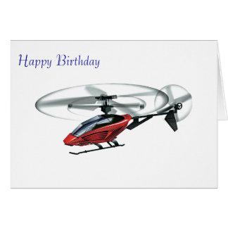 Imagen del helicóptero para la tarjeta de felicita