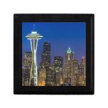 Imagen del horizonte de Seattle en horas de mañana Cajas De Recuerdo