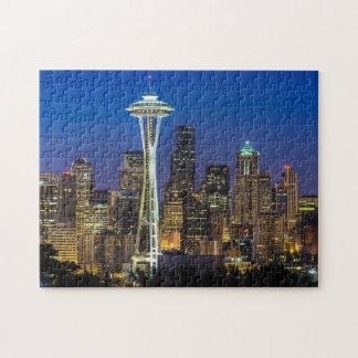 Imagen del horizonte de Seattle en horas de mañana Puzzles Con Fotos