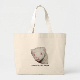Imagen del hurón del albino bolsa tela grande