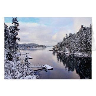 Imagen del invierno de la nieve tarjeta de felicitación