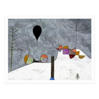Imagen del invierno de Paul Klee Postal