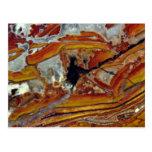 Imagen del jaspe anaranjado y amarillo postales