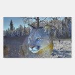 Imagen del león de montaña del puma y de la fauna rectangular altavoz