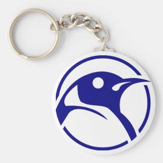 Imagen del linux del pingüino llavero redondo tipo pin