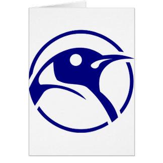 Imagen del linux del pingüino tarjeta de felicitación