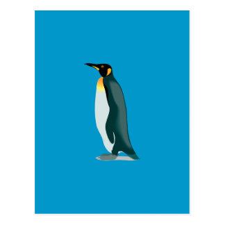 imagen del linux del pingüino tarjeta postal